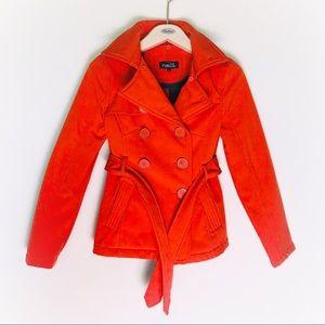 Red rain coat jacket size small